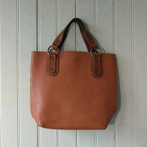 Maurizio Taiuti leather tan brown mini purse